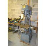 Enco Vertical Mill, S/N 0-592, 8 in. x 30 in. Work Table