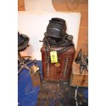 LOT: Marquette AC Arc Welder, with Face Shield & Helmet