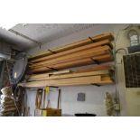 LOT: Large Quantity Assorted Redwood, Cherry & Oak High Grade Lumber