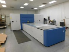 LOT: Inca Onset S20 Flatbed UV Digital Printer (2010), with Computer, Cabinet containing Parts, Comp
