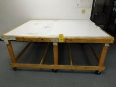 7 ft. x 5.5 ft. x 3 ft. Rolling Wooden Shop Table