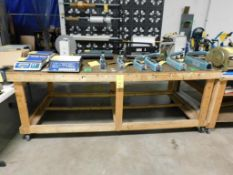 8 ft. x 4 ft. x 3 ft. Rolling Wooden Shop Table