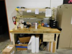 6 ft. x 7.5 ft. x 6 ft. Wood Top Work Bench, with Lights & Power Strip