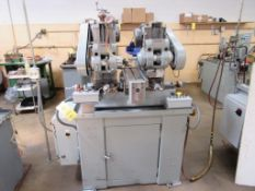 Barker 2-Spindle Horizontal Production Mill Model AMD2, S/N 1663LG, 6 in. x 20 in. Pneumatic Feed Wo