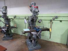 Bridgeport 1-1/2 HP Vertical Mill, S/N J184809
