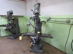 Bridgeport 1-1/2 HP Vertical Mill, S/N J146209