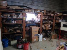 LOT: Balance of Room including Detroit Diesel Parts (old) (no shelving)