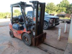 Toyota 4000 lb. LP Forklift Model 7FGU25, S/N 67217, Pneumatic Tires, 3-Stage Mast, Side Shift