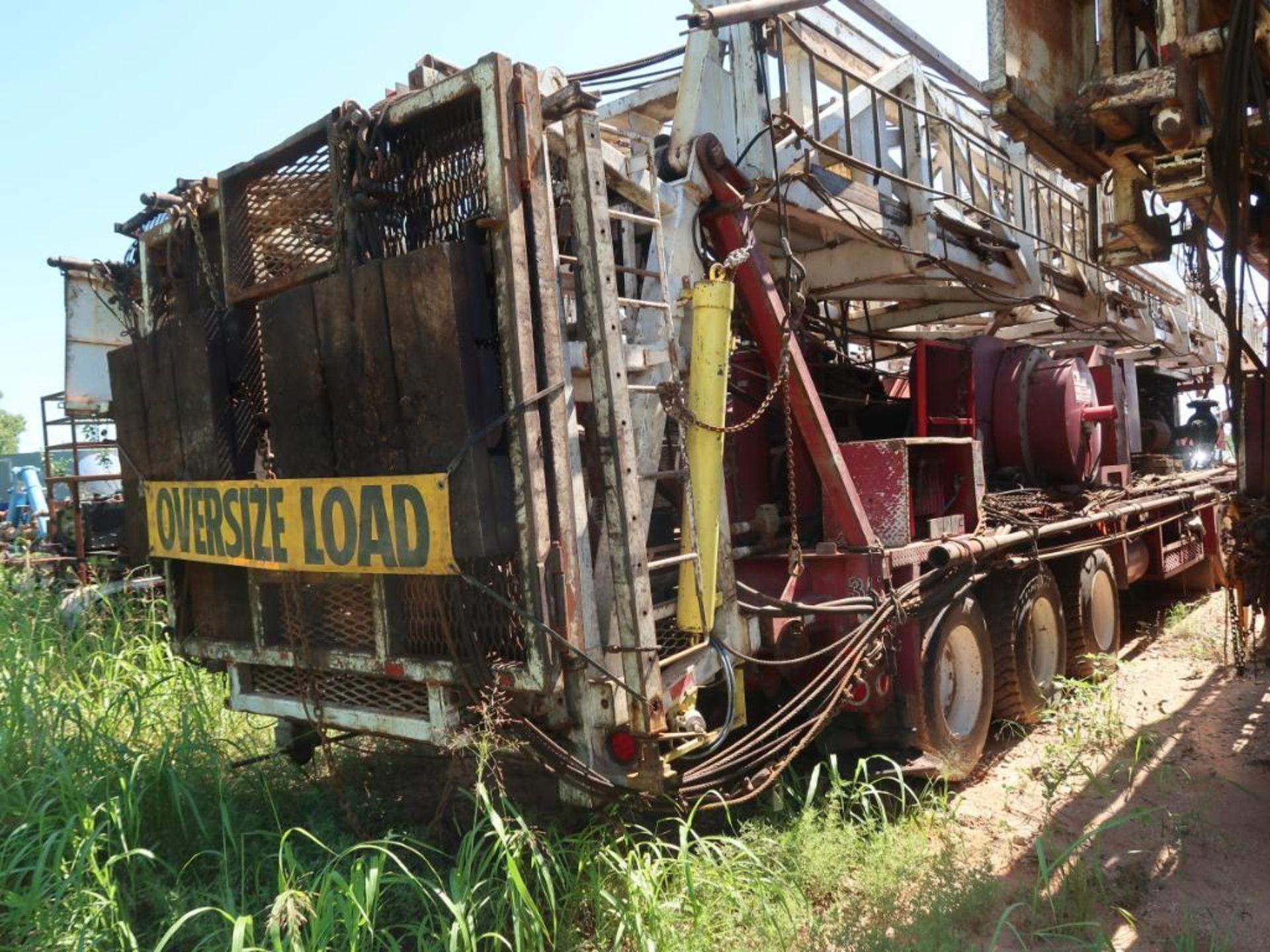 Lot 259 - Rig 35: N.O.V. 5XL 5C Well Service Rig, Detroit Diesel Series 60, 14.0 Liter, 104 ft. 350 lb. Derric