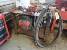 LOT: Gas Powered Hydraulic Test Machine for Tongs, Honda 630, Hydraulic Pump, Tank, Mounted on 48 in