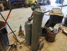Torch Cart with Torch, Hose, Regulators (tank not included)