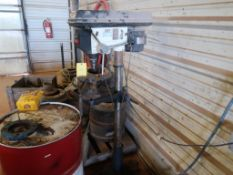 LOT: Jet 15 in. Floor Stand Drill Model J-2500, 6 in. Bench Grinder with Stand