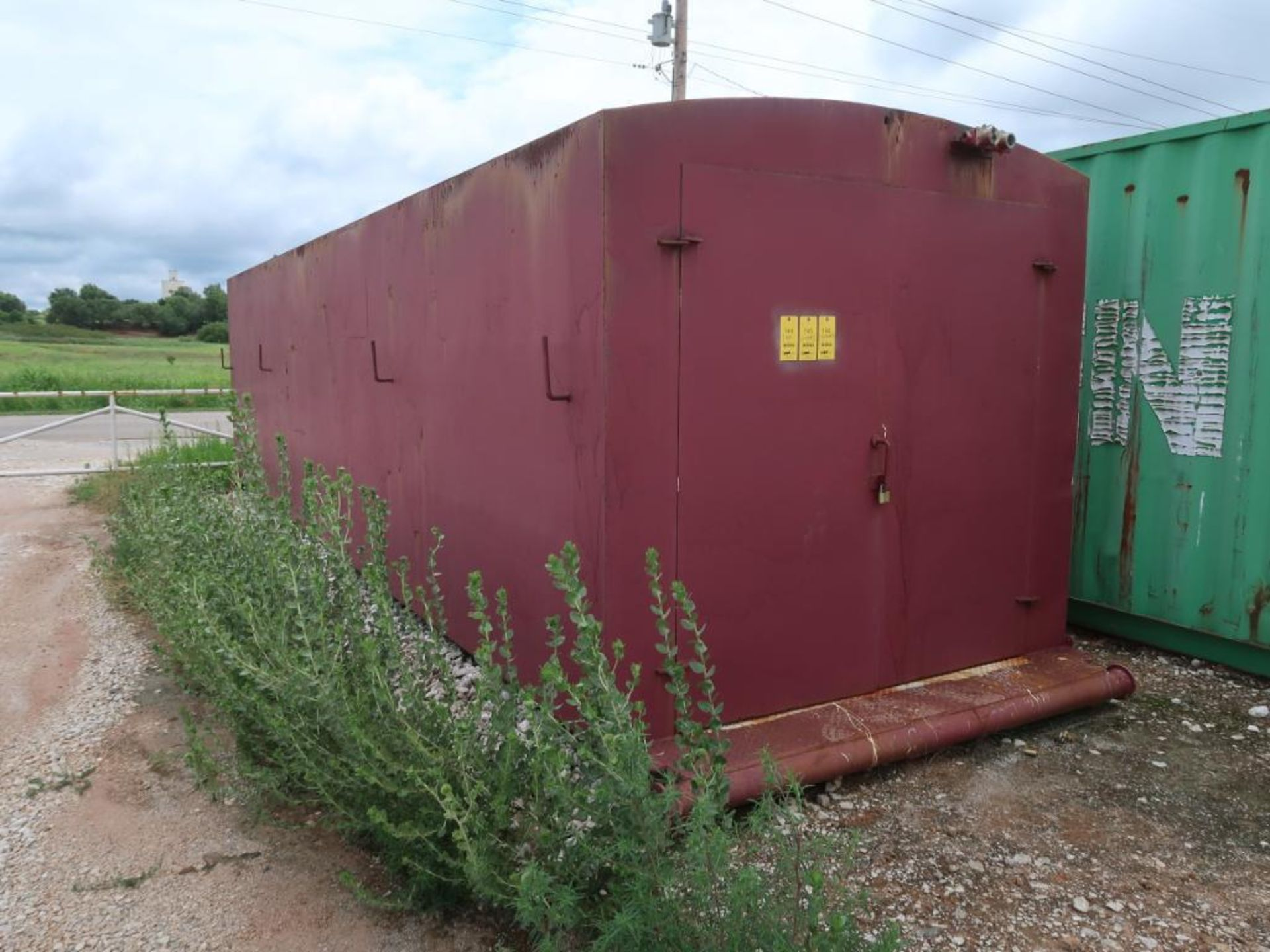 Lot 146 - 28 ft. Skid Mounted Conex Box (red)