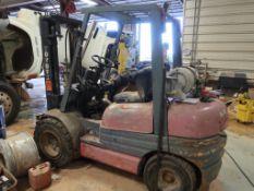 Toyota 6000 lb. LP Forklift Model 02-6FGU30, Pneumatic Tires, 2-Stage Mast (needs repair)