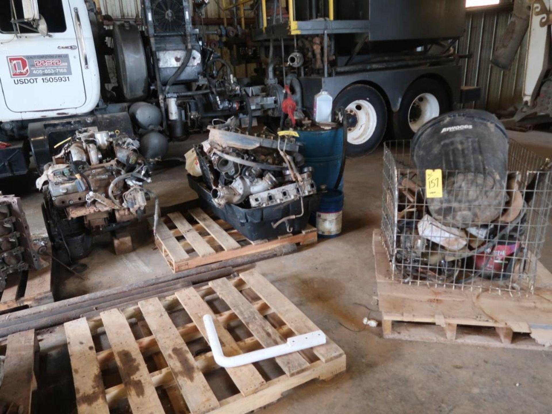 Lot 157 - LOT: Diesel Engines, Parts, Cores