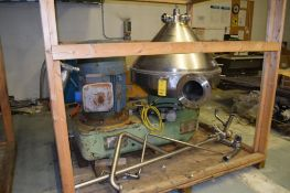 WESTFALIA Desludger Disc Centrifuge SA-100, 316 Stainless Steel Construction (Product Contact Areas)