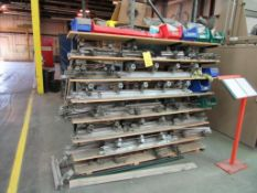 Rack of Thermo Clamps (LOCATED IN SOUTH MILWAUKEE, WI)