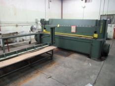 Niagara 10 ft. x 1/2 in. Squaring Shear Model 1010, S/N 55247, Squaring Arm, Front Support Arms,
