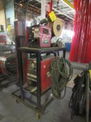 Lincoln 300 Amp Portable MIG Welder Model Invertec V300 with LN7 Wire Feed with Cables (LOCATED IN