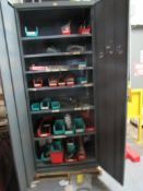 LOT: Steel Cab w/Weld Supply, Rack w/Weld Contents (LOCATED IN SOUTH MILWAUKEE, WI)