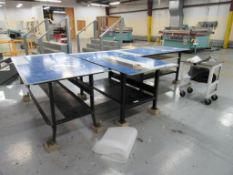 LOT: (3) Metal Work Tables (LOCATED IN SOUTH MILWAUKEE, WI)