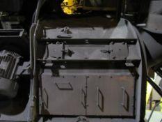 Pangborn Shot Blast Machine, 100 HP, Coninous Thru-Feed, Air Wash, Shaker Conveyor, Single Head (non