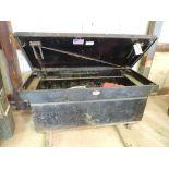 RKI Steel Single-Lid Crossbox (LOCATED IN HENNESSEY, OK. - IN CHEM BLDG.)