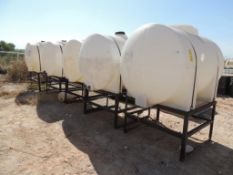 LOT: (5) Poly Tanks - (2) 535 Gallon, (3) 330 Gallon (LOCATED IN HENNESSEY, OK. - IN CHEM YARD)