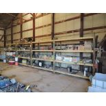 LOT: (3) Sections 36 in. x 92 in. Pallet Rack with Contents of Assorted Quick Coupler Fittings,