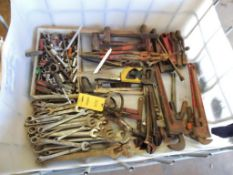 LOT: Assorted Hand Tools, Sockets, Wrenches, Oil Filter Wrenches, etc. (LOCATED IN HENNESSEY,
