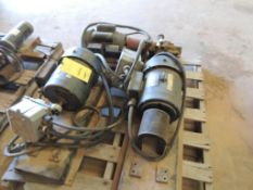 LOT: (2) Marathon Electric Motors, 182T Frame, 1 Ph, 115/230 Volt, (1) WEG Electric Motor 2 HP, 1720