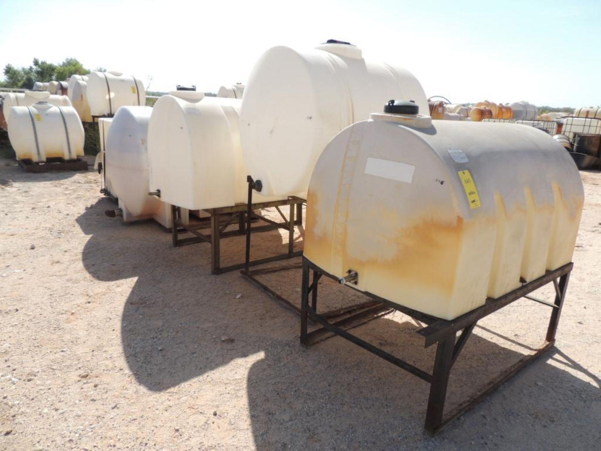 LOT: (7) Poly Tanks - (1) 535 Gallon, (3) 330 Gallon, (3) 80 Gallon (LOCATED IN HENNESSEY, OK. -
