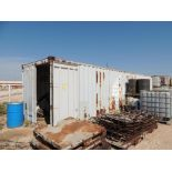 Sea Container 40 Ft. and Contents, S/N NOSU430002, (LOCATED IN HENNESSEY, OK. - IN UPPER YARD)