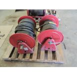 LOT: (2) Reel Cart hose Reels with Hose (LOCATED IN HENNESSEY, OK. - IN CHEM BLDG.)