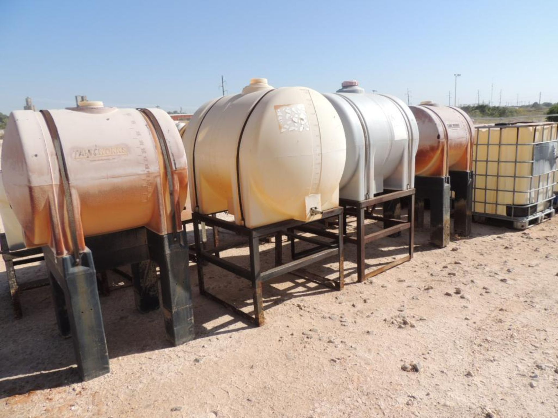LOT: (10) Poly Tanks - (2) 225 Gallon, (8) 130 Gallon (LOCATED IN HENNESSEY, OK. - IN CHEM YARD) - Image 2 of 2
