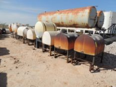 LOT: (10) Poly Tanks - (2) 230 Gallon, (8) 130 Gallon (LOCATED IN HENNESSEY, OK. - IN CHEM YARD)
