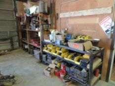 LOT: Steel Shelving Unit with Contents of Assorted Fittings, Valves, TXAM Pump Parts (LOCATED IN