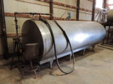 LOT: Mueller Bulk IN CHEM BLDG.ical Tank, Stainless, 2000 Gallon, with WEG Centrifugal Pump (LOCATED