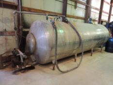 LOT: Super Cooler Bulk IN CHEM BLDG.ical Tank, Stainless, 500 gallon, with Dayton Centrifugal