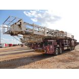 2007 National 5XL5 Well Service Rig, 5 Axle, Detroit Series 60, 665 HP, 5860 Transmission, 104 Ft.