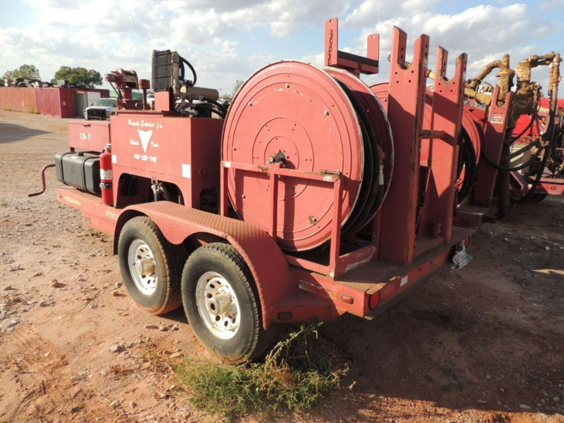 Power Swivel Trailer 2012 Springer Trailer 6 Ft. x 14 Ft. T/A, w/ King Oil Tools 3PS Rotary Drive - Image 5 of 5