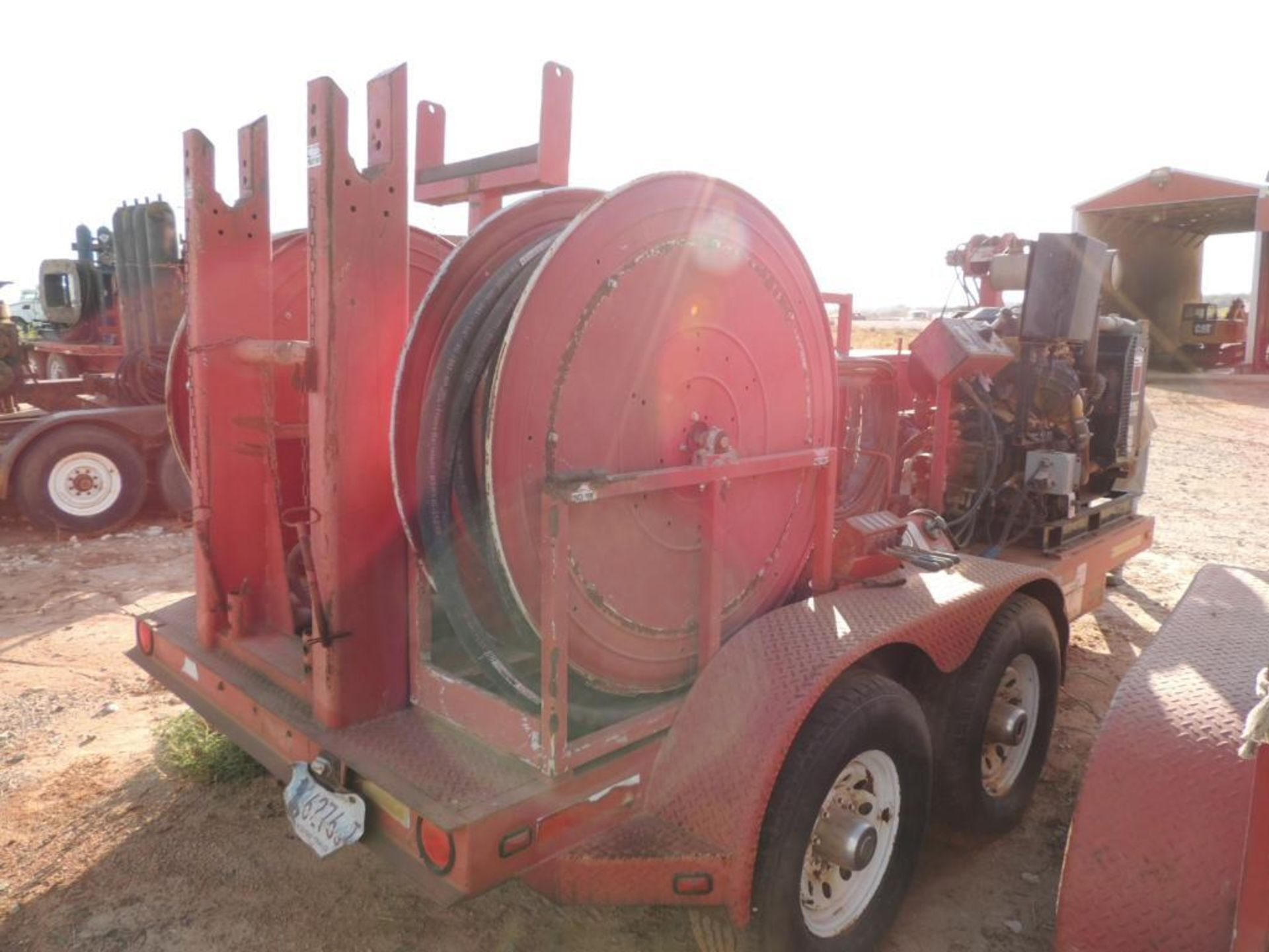 Power Swivel Trailer 2012 Springer Trailer 6 Ft. x 14 Ft. T/A, w/ King Oil Tools 3PS Rotary Drive - Image 4 of 5