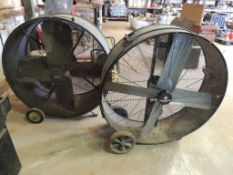 LOT: (1) Heat Buster 40 in. Barrel Fan, (1) County Line 40 in. Barrel Fan (LOCATED IN HENNESSEY, OK.