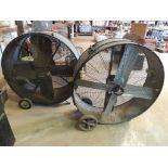 LOT: (1) Heat Buster 40 in. Barrel Fan, (1) County Line 40 in. Barrel Fan (LOCATED IN HENNESSEY, OK.