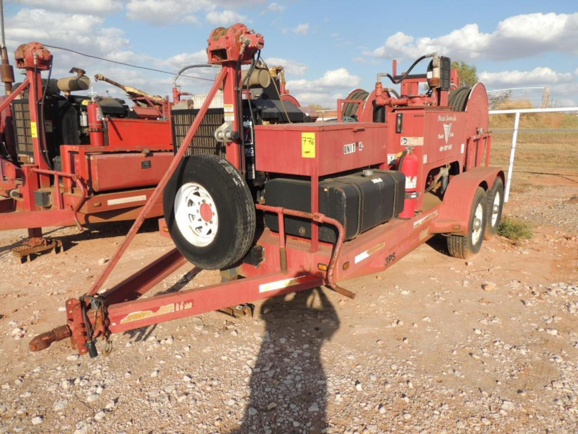Power Swivel Trailer 2012 Springer Trailer 6 Ft. x 14 Ft. T/A, w/ King Oil Tools 3PS Rotary Drive