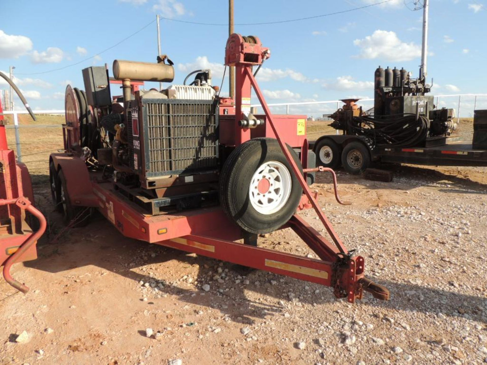 Power Swivel Trailer 2012 Springer Trailer 6 Ft. x 14 Ft. T/A, w/ King Oil Tools 3PS Rotary Drive - Image 2 of 5