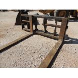 Caterpillar Fork Carrige, 3 x In. x 7 In. x 96 In. Forks, P/N CWTS-A-AP Custom(LOCATED IN HENNESSEY,