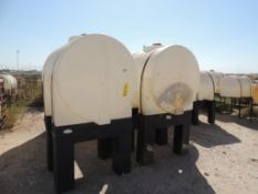 LOT: (5) Tank Works Poly Tanks on Poly Stands - (3) 350 Gallon, (2) 230 Gallon (LOCATED IN HENNESSEY