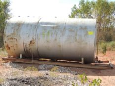8 Ft. x 16 Ft. Skidded Horizontal Steel Tank (Located Lower Yard)(LOCATED IN HENNESSEY, OK)