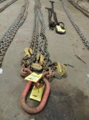 Chain Sling, 1/2 In. x 15 Ft. 4 Leg Adjustable (Located Cowboy Bldg)(LOCATED IN HENNESSEY, OK)